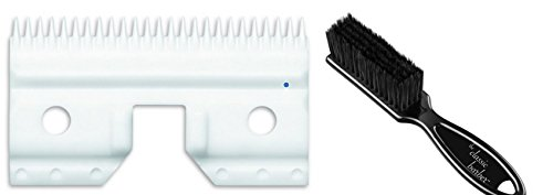 Andis CeramicEdge Carbon-Infused Steel Medium Cutter Clipper Blade & Classic Barber Blade Brush