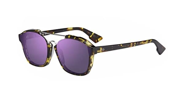 26acf46d34 New Christian Dior ABSTRACT (TVZ 9Z) spotted havana violet mirror  Sunglasses  Amazon.ca  Clothing   Accessories