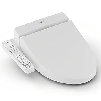Image of TOTO SW2034#01 C100 WASHLET Electronic Bidet Toilet Seat with PreMist, Elongated, Cotton White Home Improvements