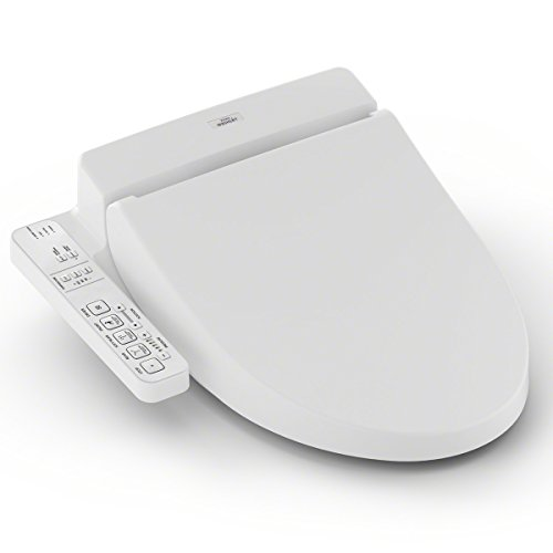 TOTO SW2033R#01 WASHLET C100 Electronic Bidet Toilet Seat with PREMIST, Round, White-SW2033R, Round, Cotton White