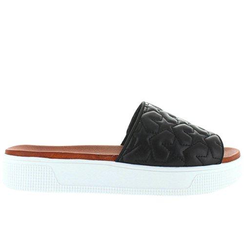 MIA Women's Journee Platform Slide Sandal, Black, 8 M US