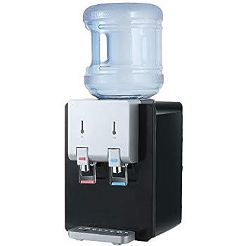 Amay Desktop Water Cooler Dispenser Top Loading Water Dispenser Hot & Cold Water Coolers with Child Safety Lock Drinking Fountain