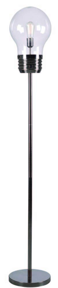 "Kenroy Home 32463AB Edison Floor Lamp, 72"" x 12"" x 12"", Antique Brass Finish"