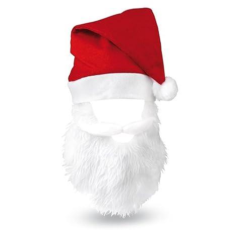 4e560178cbb02 DISOK Lote de 20 Gorros de Papa Noel con Barba Santa Claus - Gorros Navidad  con Barba  Amazon.es  Juguetes y juegos
