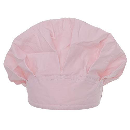 Opromo Cotton Bleach Friendly Banded Adjustable Scrub Cap Sweatband Bouffant Hat-Pink]()