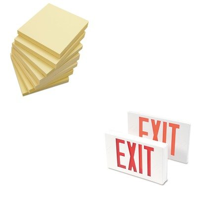 - KITTCO07230UNV35668 - Value Kit - Tatco LED Exit Sign (TCO07230) and Universal Standard Self-Stick Notes (UNV35668)