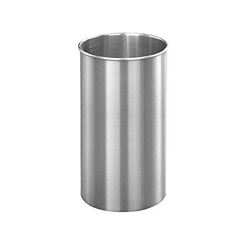 Glaro Open Top Wastebasket: 23''H x 12''Dia - Satin Aluminum by Glaro