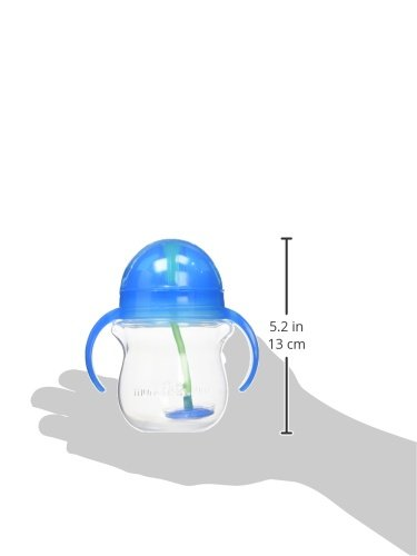 31s1kqO0T7L - Munchkin Any Angle Click Lock Weighted Straw Trainer Cup, Blue, 7oz