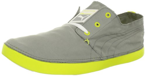 Puma Mens Tekkies Lite Fashion Sneaker Calcare Grigio / Giallo Brillante