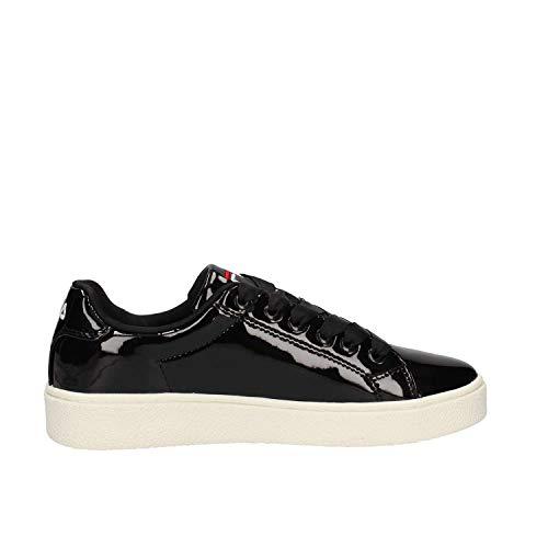 1010470 Scarpe Upstage Donna F In Nero Pelle Fila Sneakers Nera 25y wECTxqB
