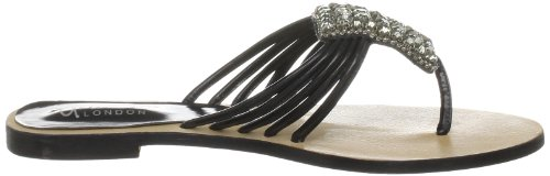 Unze Evening Slippers L18323W - Sandalias para mujer Negro