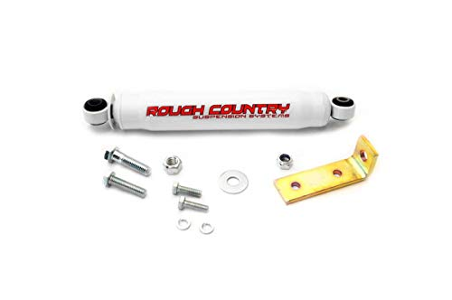 Rough Country 87361 - Big Bore Steering Stabilizer w Premium N2.0 Shock (fits) Nissan 86.5-94 D21 Hardbody 4WD