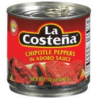 La Costeña Chipotle Peppers in Adobo Sauce 12 Oz (Pack of 6) by La Coste??a