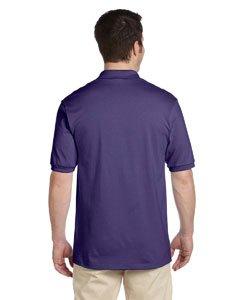 Jerzees Men's Spot Shield Short Sleeve Polo Sport Shirt, Deep Purple, Large