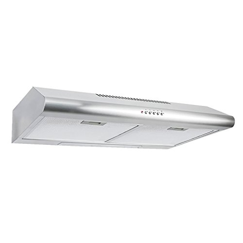 Cosmo 30 in. 200 CFM Ducted Under Cabinet Stainless Steel Ra