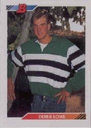 1992 Bowman Derek Lowe Baseball Card Baseball Card #98 Derek Lowe