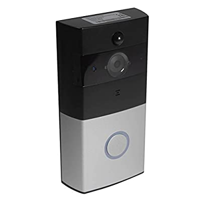 1MP 720p HD Wireless Wi-Fi Video Doorbell IP Home Security Camera w/ Built in 8G Memory, Battery, Motion Detection PIR, Tamper Alarm Infrared Night Vision, Two Way Audio & Free IOS + Android Apps
