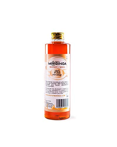 - Pure Raw Honey, Natural Royal Jelly, Unfiltered Honey from Moringa Flower Nectar