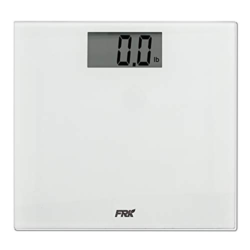 FRK Digital Bathroom Scale, Precision Digital Body Weight Scale with Large Platform, 400 Pounds, Battery Included, White