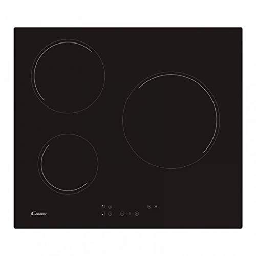 Candy 33801786 Encimeras De Cocción, Controles táctiles, 3 zonas, color negro