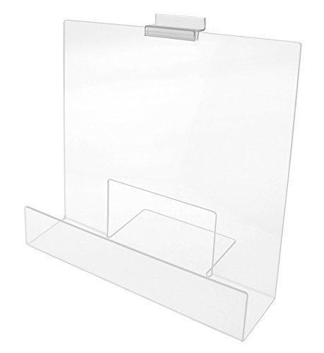 Marketing Holders Acrylic 12'' Book Shelf with Lip for Slatwall (Clear) by Marketing Holders