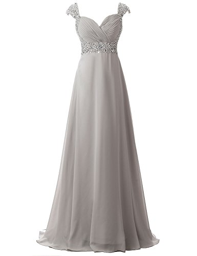 Belle House Silver Chiffon Mother of Bride Dress Evening Gown HSD179SL