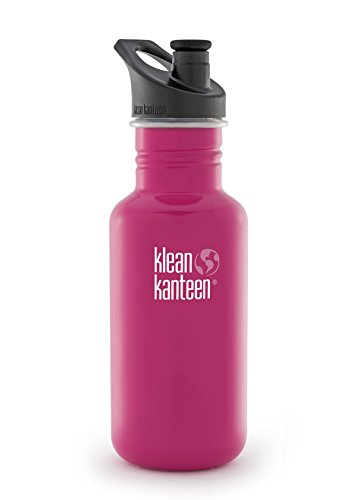 Klean Kanteen Classic Stainless Steel Bottle with Sport Cap, Cap 3.0) Dragon fruit - 18oz