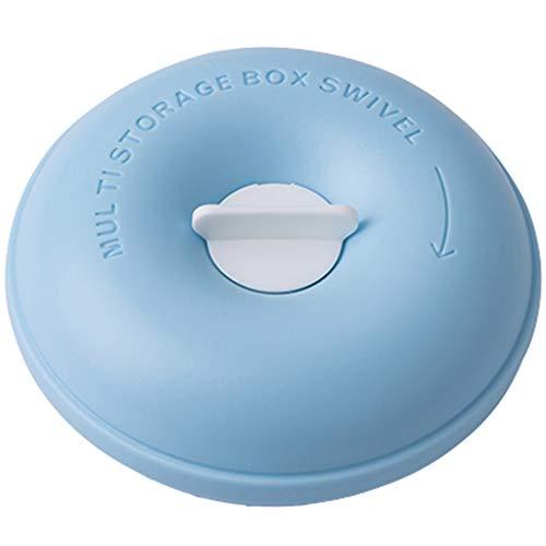 Blue Pillbox Portable Portable Medicine Caja de Almacenamiento Simple