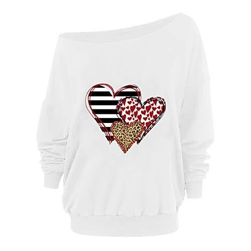 Lente afgedrukt schouder lange mouw T-Shirt losse trui vrouwen