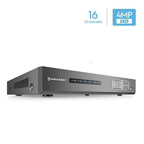 HD-Analog 16CH Video Security DVR Digital Recorder, 16-Channel 4 Megapixel @ 15fps, HD Analog, Hard Drive & Cameras NOT Included, Remote Smartphone Access (AMDV4M16) ()
