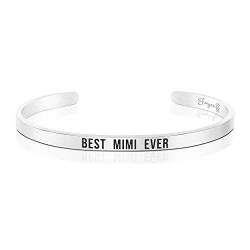 Joycuff Best Mimi Ever Bracelet Jewelry Gifts for Grandma Mantra Cuff Bracelets Bangle by Joycuff (Image #5)