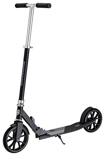 - Mongoose Trace 200 Foldable Kick Scooter, Featuring Quick-Release Adjustable Height Handlebars with 205mm Wheels, Black/Grey