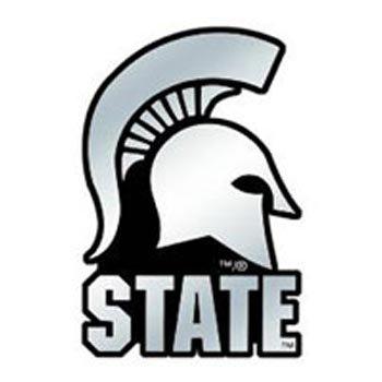 - NCAA Michigan State Spartans Chrome Automobile Emblem