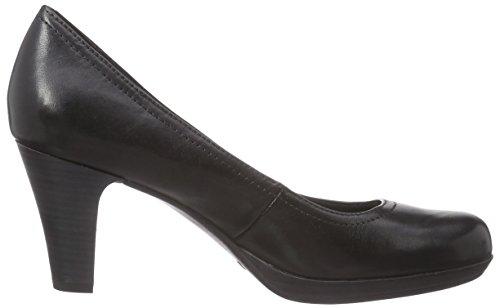 Tamaris 22410 - zapatos de tacón cerrados de cuero mujer negro - negro