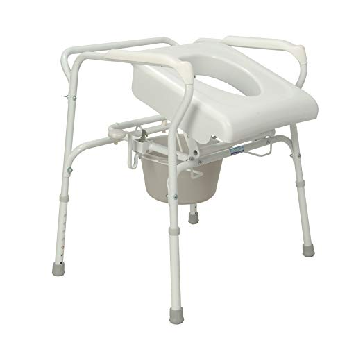 (Carex Health Brands Uplift Commode Assist, Self-Powered with 70% Lift Assistance, Weight Capacity 300 lbs, Adjustable Height, Use as Stand Alone or with)