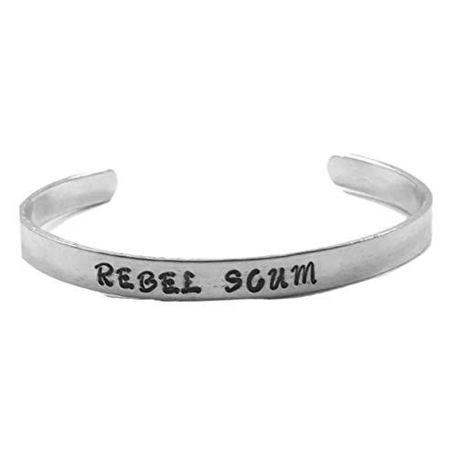Rebel Scum Hand Stamped Star Wars Cuff Bracelet