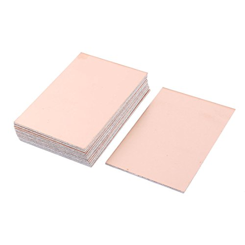 Uxcell a15092100ux0890 15 Piece FR-4 Copper Clad Double Side PCB Laminate Board 100 mmx70 mm 1.6 (Side Laminate)