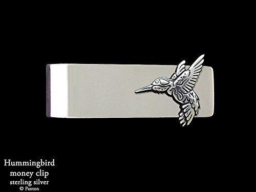 Hummingbird Money Clip in Solid Sterling Silver Hand Carved, Cast & Fabricated by Paxton by Paxton Jewelry