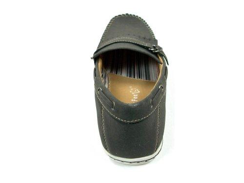 Mens 30217 Moccasin Fringe Slip On Casual Loafer Shoes Gray N6TaGK