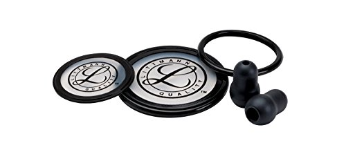 3M Littmann Stethoscope Spare Parts Kit, Cardiology III, Black, 40003 - Littmann Stethoscope Accessories