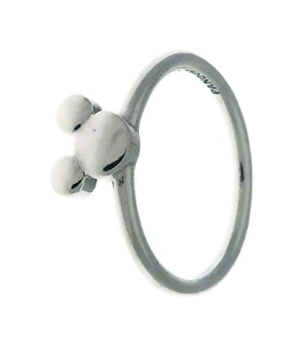 PANDORA Disney Mickey Silhouette 925 Sterling Silver Ring, Size: EUR-52, US-6-197508-52 ()