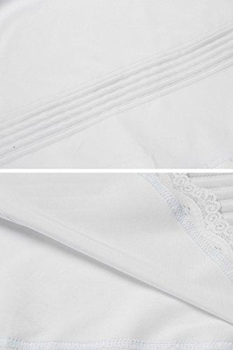 Camicia Notte Da Donna Ekouaer Bianco PS1dWPT