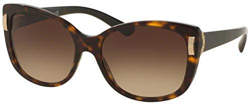 Bvlgari Women's BV8170F Sunglasses Dark Havana/Brown Gradient 57mm