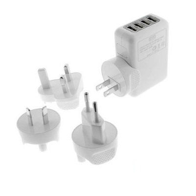 iFlash Four USB Ports Heavy Duty Home/Wall Charger Includ...