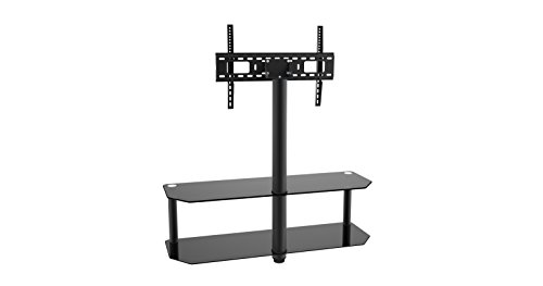 Inland 05449 Glass & Metal TV Stand Supports Flat Panel TVs up to 60''