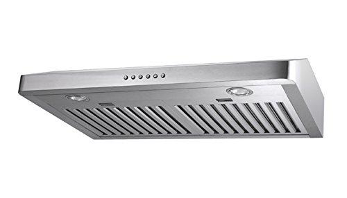 Amazing 30u0026quot; Stainless Steel Baffle Filter Under Cabinet Range Hood Slim Design