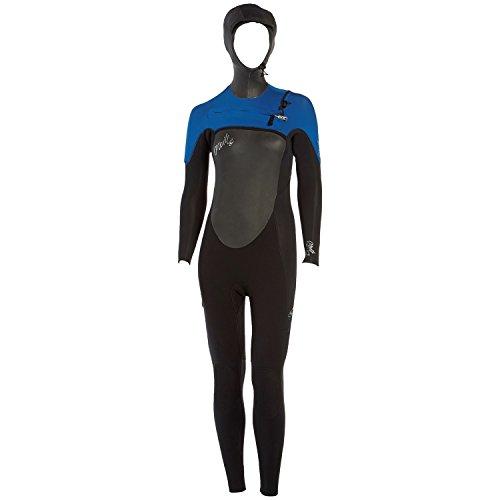 Sea Hood (O'Neill Wetsuits Womens 5/4 mm Superfreak Wetsuit with Hood, Black/Deep Sea/Spyglass Green, 10)