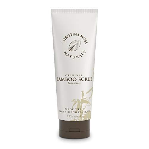 Exfoliating Bamboo Body Scrub – Moisturizing Exfoliator Made With Organic Aloe & Essential Oils – Gentle Skin…