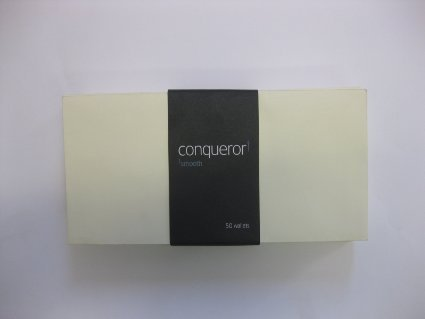 50 DL Conqueror Laid (Textured) Cream Envelopes (1/3 of A4)