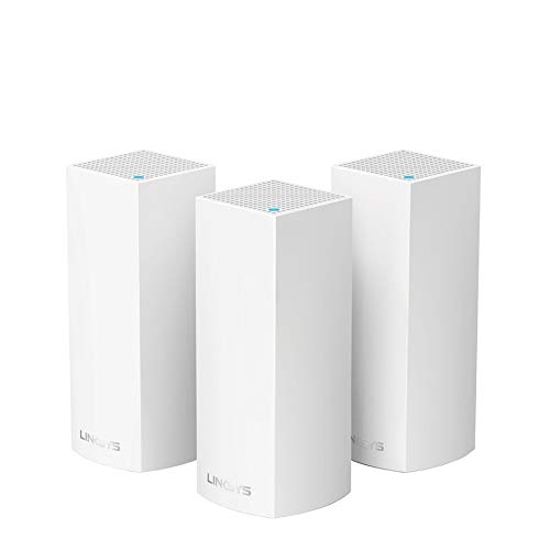 Linksys Velop Mesh Router (Tri-Band Home Mesh WiFi System for Whole-Home WiFi Mesh Network) 3-PackAmazonUs/ White